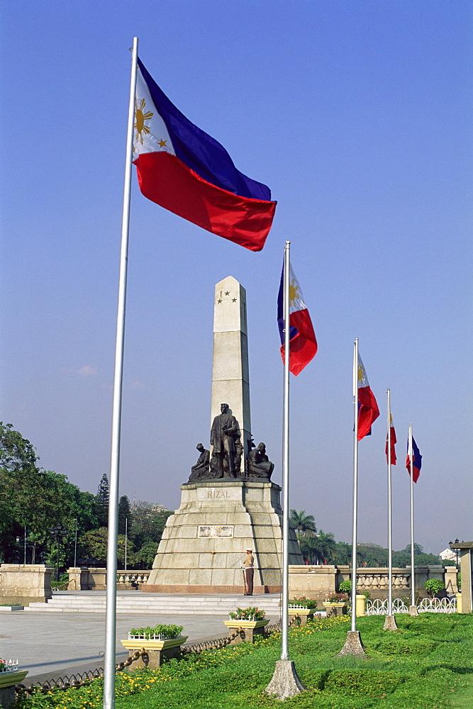 Rizal Memorial Statue, Manila, Philippines, Southeast Asia, Asia