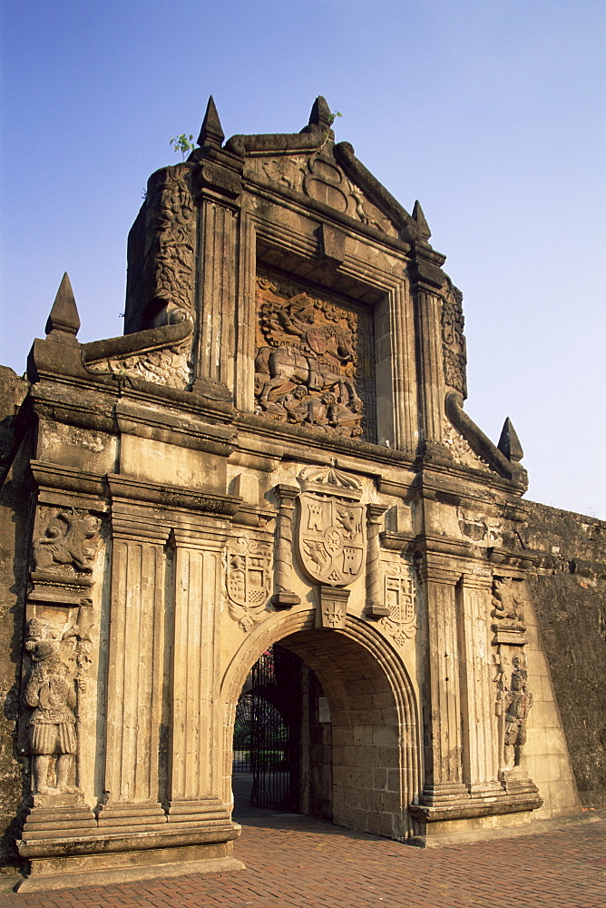 Entrance to Fort Santiago in the Intramuros Historical District, Manila, Philippines, Southeast Asia, Asia