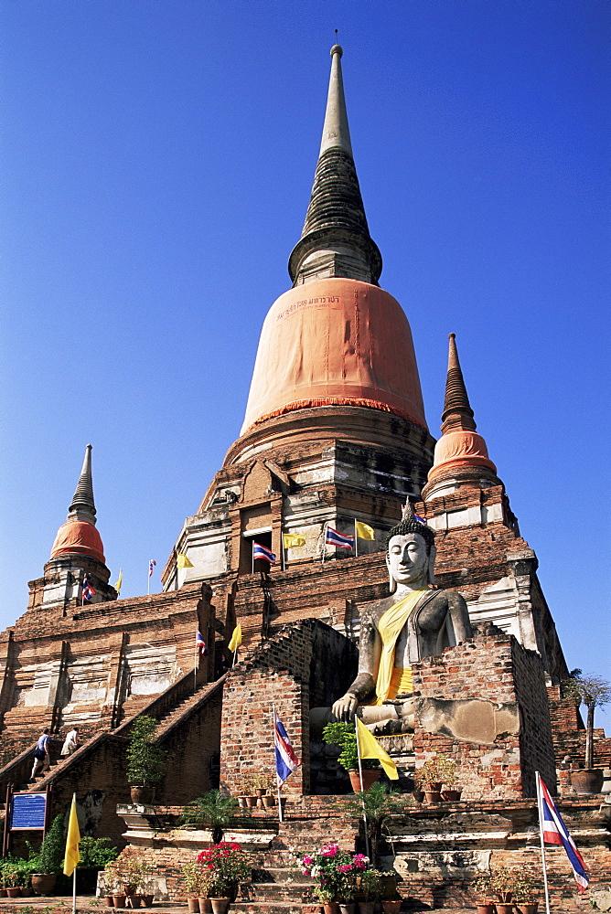 Wat Yai Chai Mongkhon, Ayutthaya Historical Park, Ayutthaya, Thailand, Southeast Asia, Asia