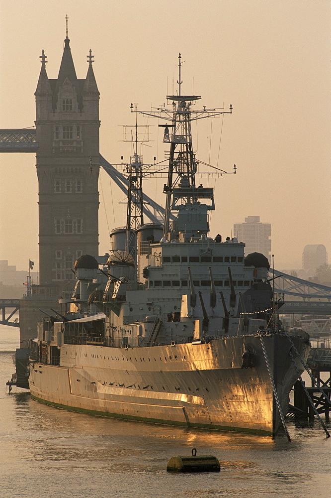 HMS Belfast Museum Ship, Southwark, London, England, United Kingdom, Europe