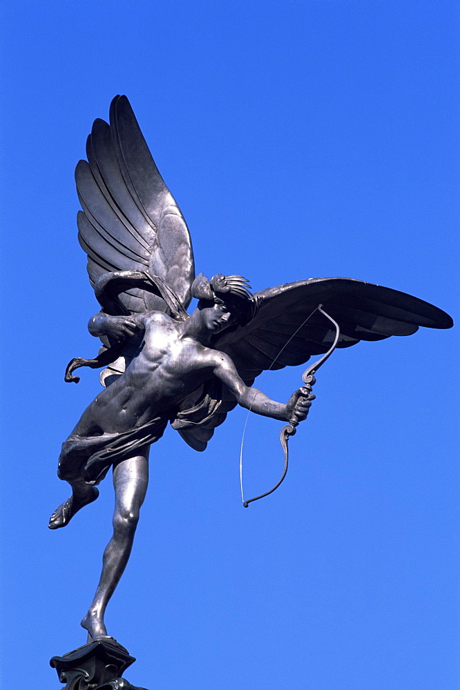 Eros statue, Piccadilly Circus, London, England, United Kingdom, Europe