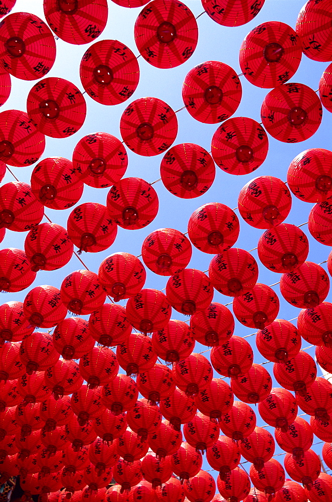 Chinese lanterns at Tianhou Temple, Cijin Island, Kaohsiung, Taiwan, Asia - 834-520