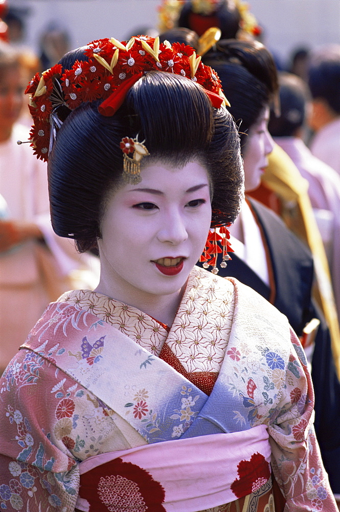 Geisha at the Jidai Matsuri Festival held annually in November at Sensoji Temple, Asakusa, Tokyo, Japan, Asia