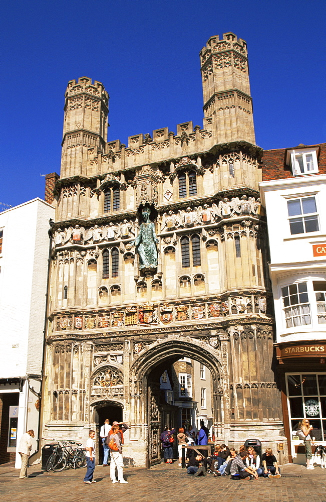 Christchurch Gate, Canterbury, Kent, England, United Kingdom, Europe