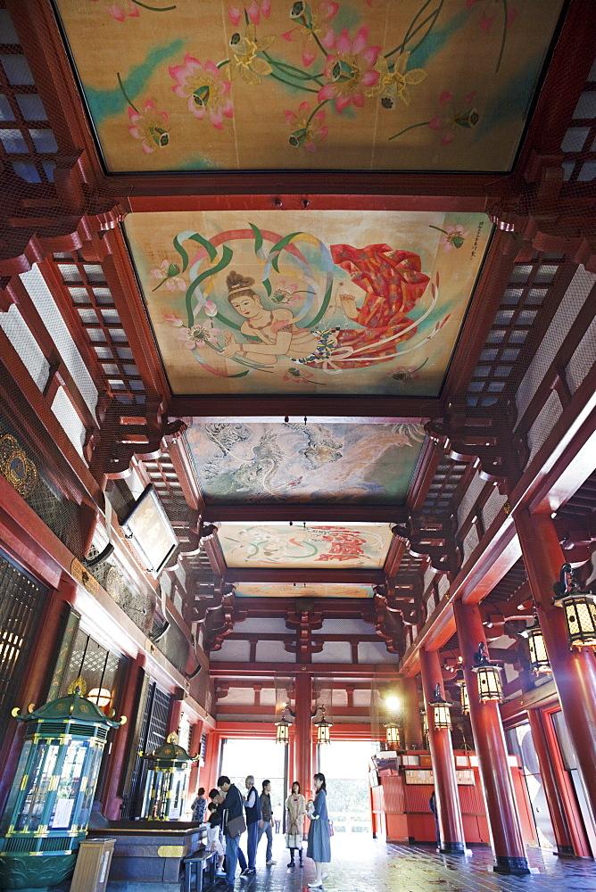 Interior of Asakusa Kannon Temple, Asakusa, Tokyo, Honshu, Japan, Asia