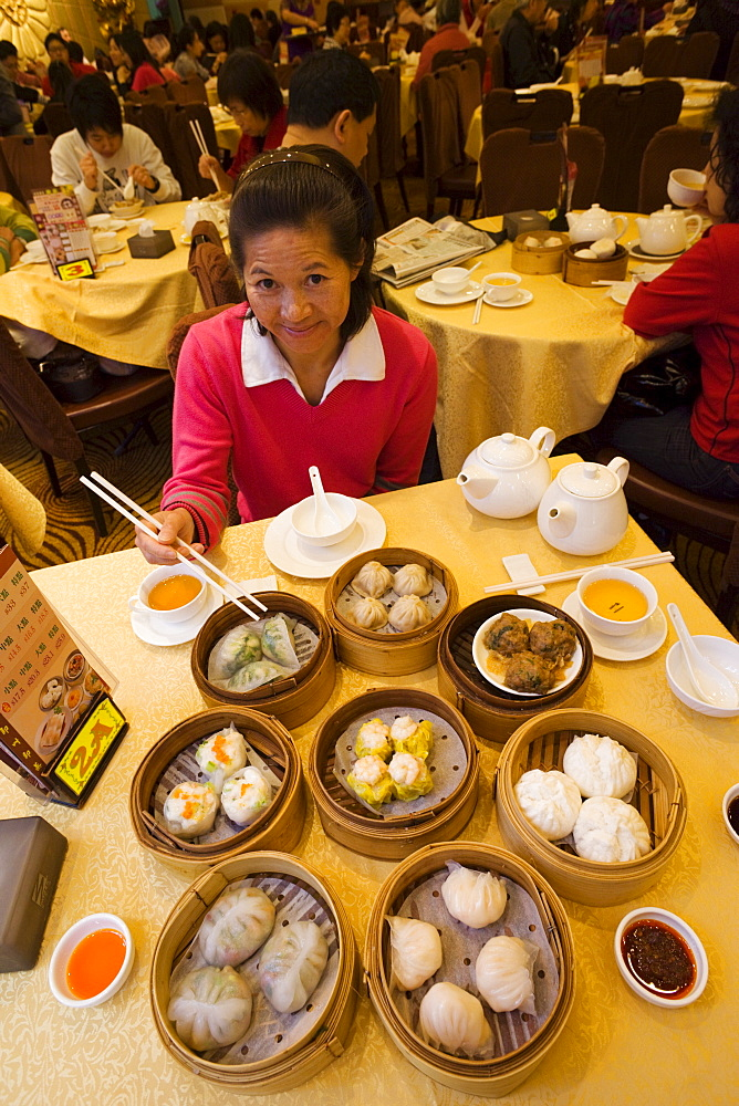 Chinese dim sum, Hong Kong, China, Asia