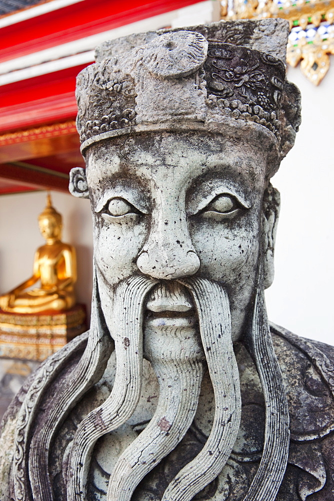 Chinese statue, Wat Pho, Bangkok, Thailand, Southeast Asia, Asia