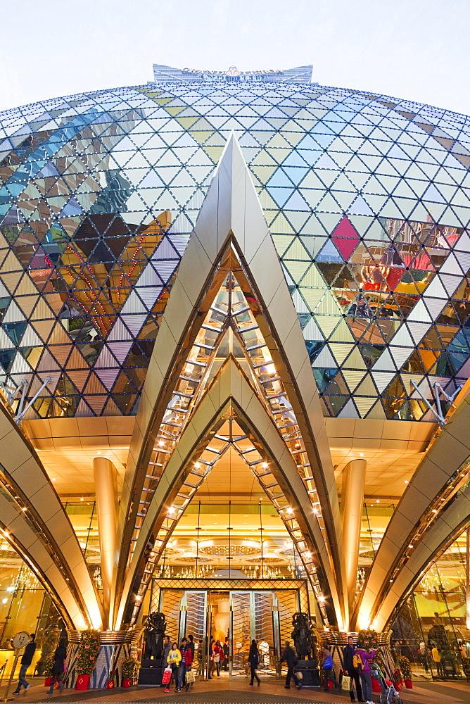 Grand Lisboa and Casino Lisboa Hotel and Casino entrance, Macau, China, Asia - 834-6667