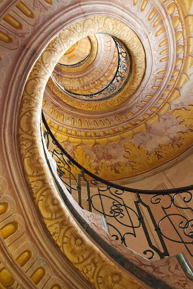 Stairway in the Abbey, Melk Abbey, Melk, Wachau Cultural Landscape, UNESCO World Heritage Site, Austria, Europe - 834-7151