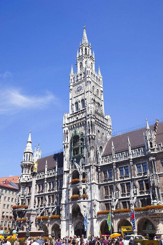 City Hall (Rathaus), Marienplatz, Munich, Bavaria, Germany, Europe - 834-7169