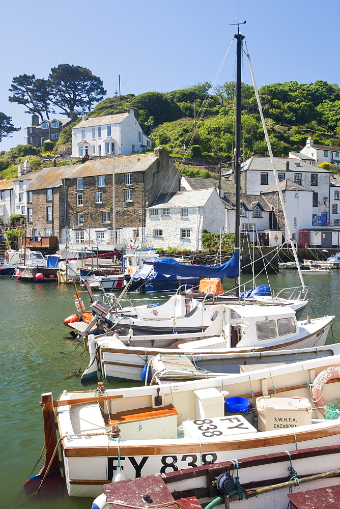 The harbour, Polperro, Cornwall, England, United Kingdom, Europe - 835-19