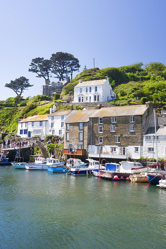 The harbour in Polperro in Cornwall, England, United Kingdom, Europe - 835-20