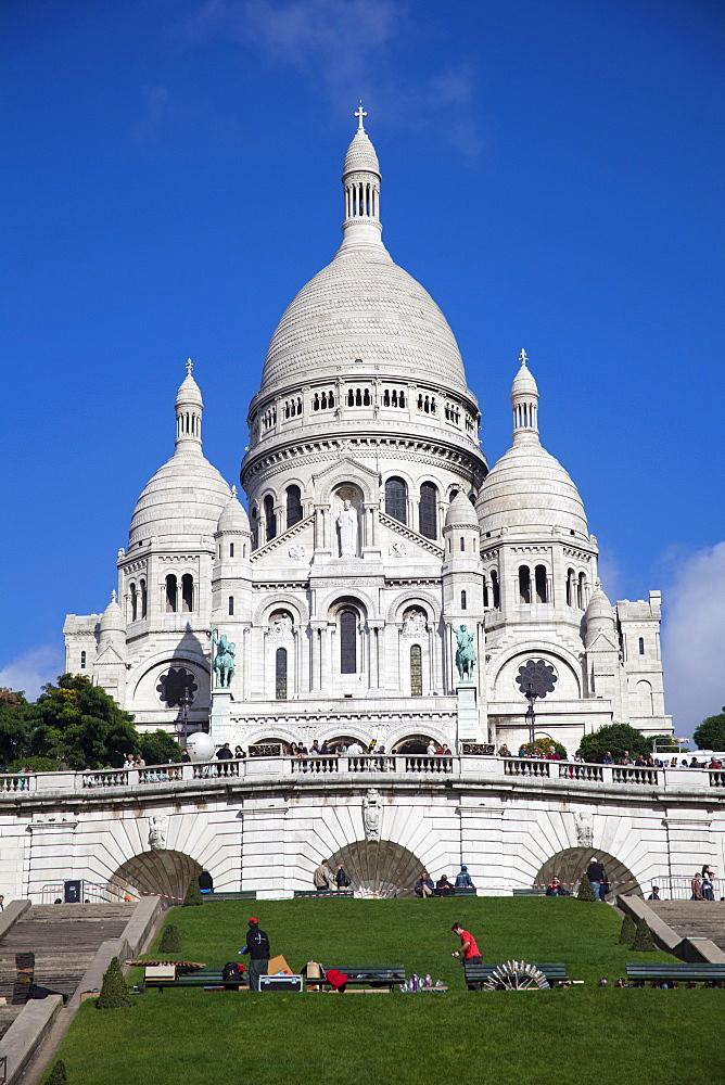 Basilica of Sacre-Coeur, Montmartre, Paris, France, Europe - 836-23