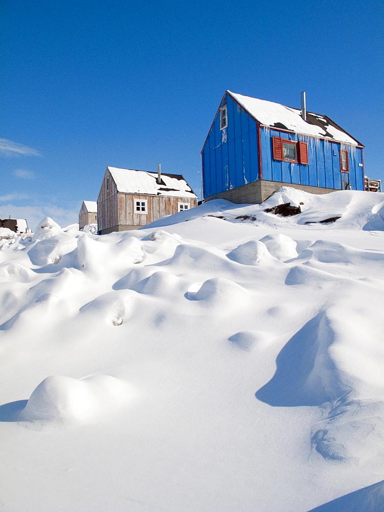 View in Tasiilaq village, East Greenland, Polar Regions - 836-73