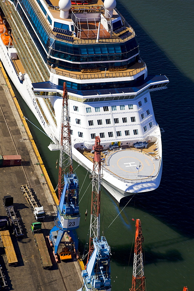The luxury passenger ship of Celebrity Equinox docking in the port of Haifa - 837-1142