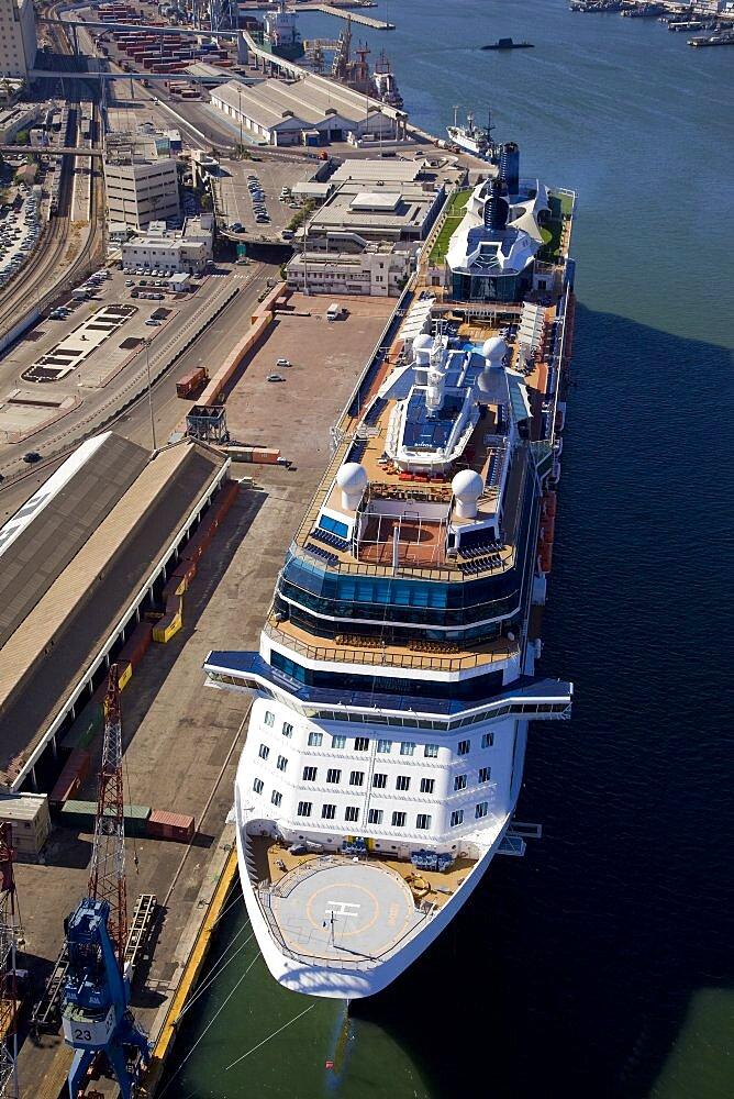The luxury passenger ship of Celebrity Equinox docking in the port of Haifa - 837-1143