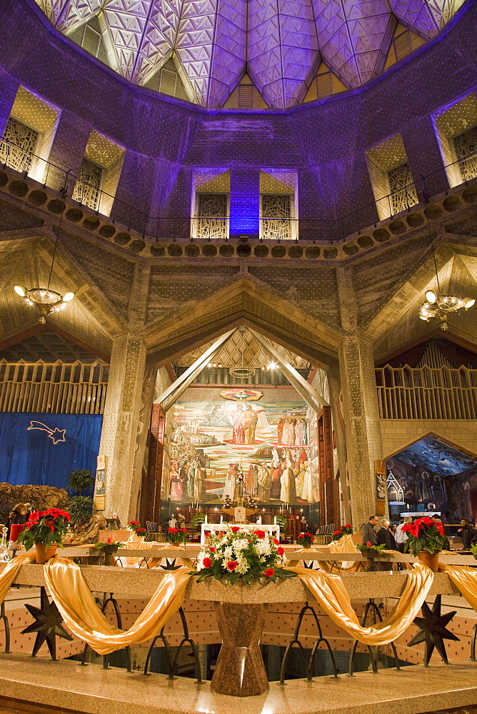 Photograph of christmas eve at the church of the annunciation in Nazareth, Israel