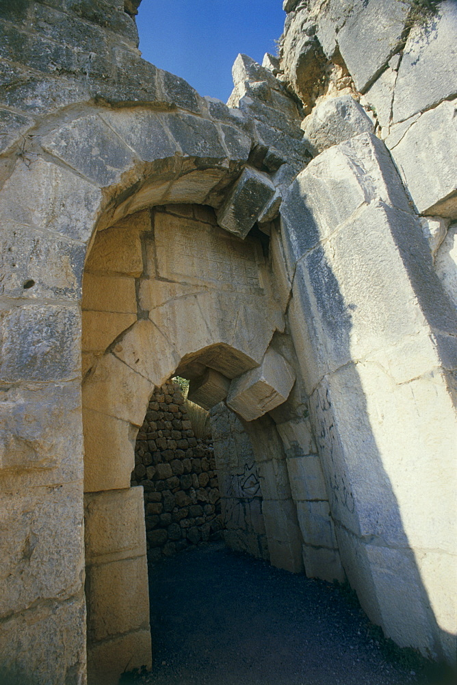 gate of the Nimrud fortress in the northern Golan Heights, Israel