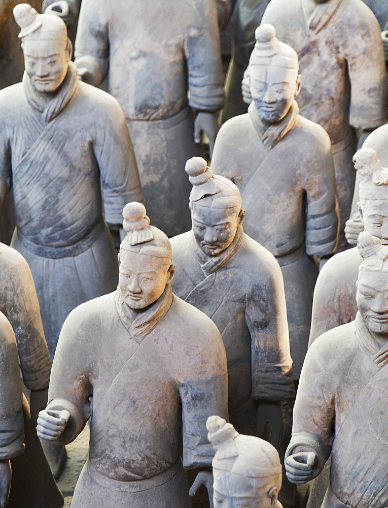 Terracotta warrior figures in the Tomb of Emperor Qinshihuang, Xi'an, Shaanxi Province, China - 839-58