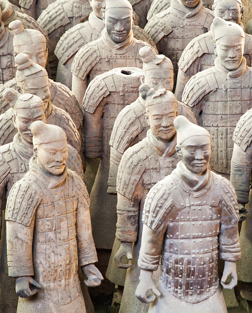 Terracotta warrior figures in the Tomb of Emperor Qinshihuang, Xi'an, Shaanxi Province, China - 839-59