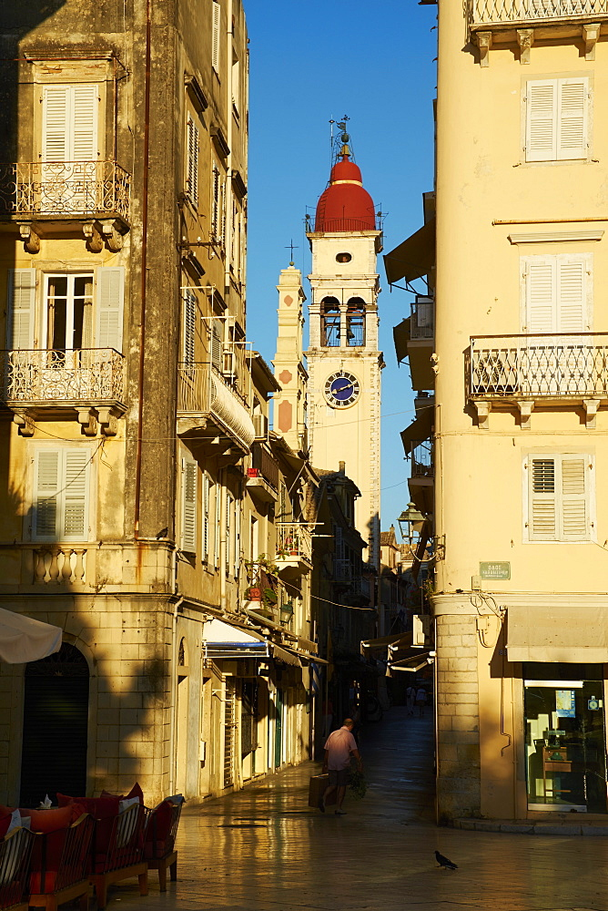 Kerkyra city, UNESCO World Heritage Site, Corfu, Ionian Islands, Greek Islands, Greece, Europe