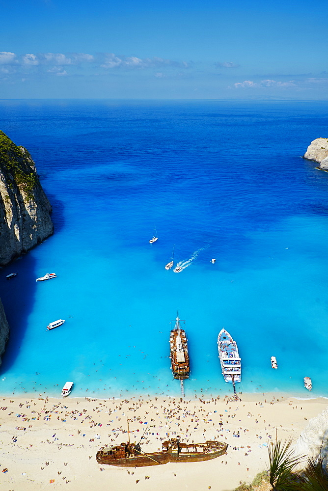 Shipwreck beach, Zante island, Ionian Islands, Greek Islands, Greece, Europe - 841-1461