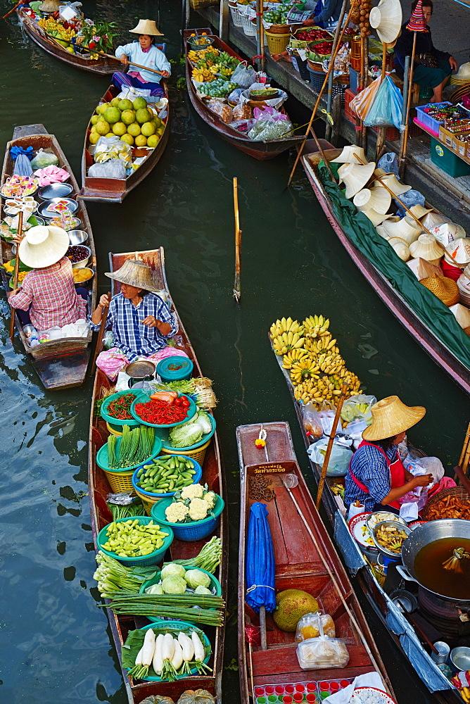 Floating market, Damnoen Saduak, Ratchaburi Province, Thailand, Southeast Asia, Asia - 841-1480