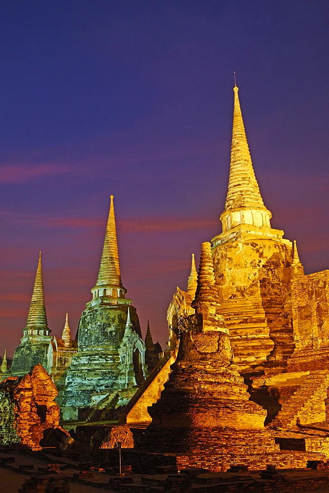 Wat Phra Si Sanphet, Ayutthaya Historical Park, UNESCO World Heritage Site, Ayutthaya, Thailand, Southeast Asia, Asia - 841-1493