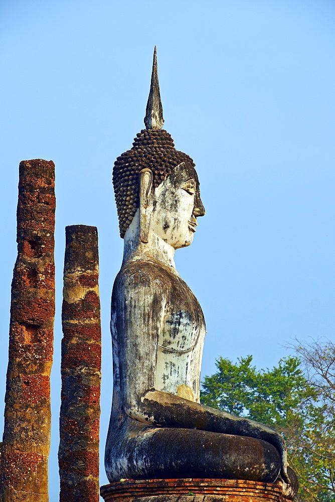 Wat Mahatat, Sukhothai Historical Park, UNESCO World Heritage Site, Sukhothai, Thailand, Southeast Asia, Asia - 841-1503