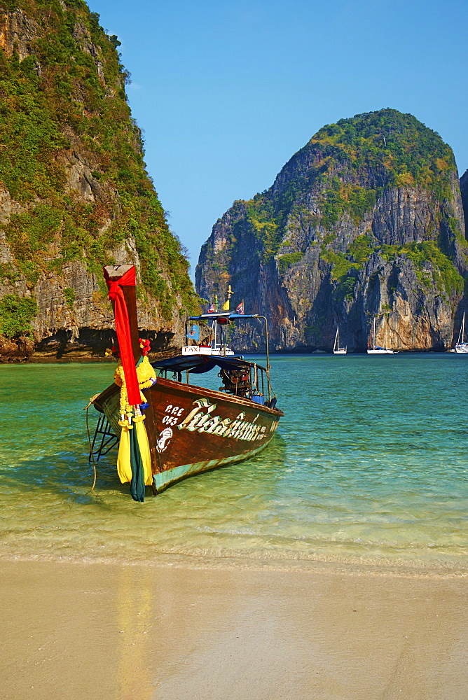 Ao Maya Bay, Ko Phi Phi Le island, Krabi Province, Thailand, Southeast Asia, Asia - 841-1563