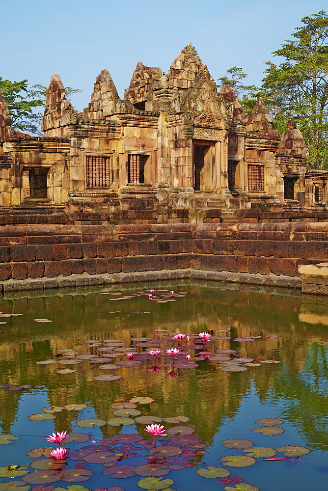 Muang Tham Temple, Khmer temple from period and style of Angkor, Buriram Province, Thailand, Southeast Asia, Asia - 841-1579