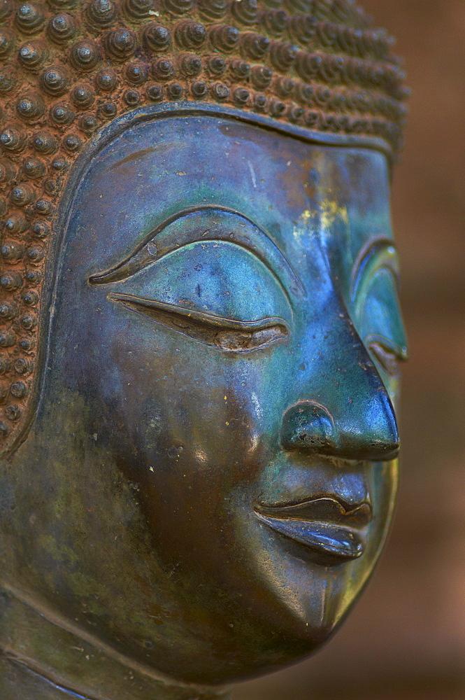 Statue of Buddha, Haw Pha Kaeo, Vientiane, Laos, Indochina, Southeast Asia, Asia