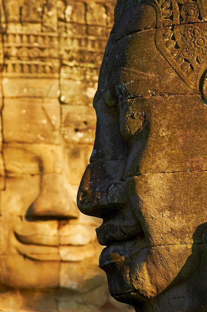 Detail of sculpture, Bayon temple, dating from the 13th century, Angkor, UNESCO World Heritage Site, Siem Reap, Cambodia, Indochina, Southeast Asia, Asia - 841-21