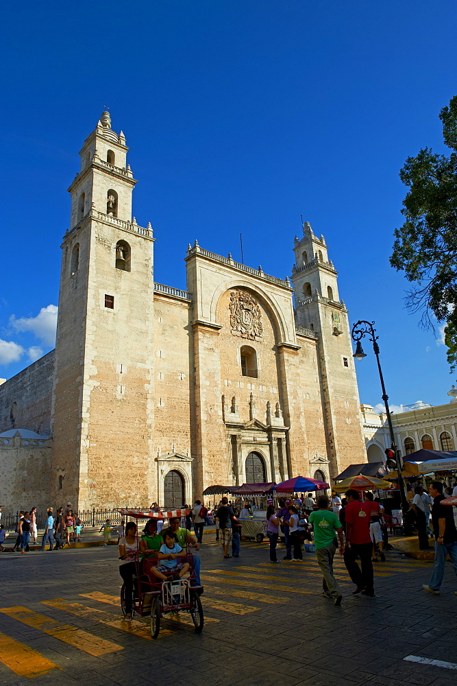 The Cathedral, Independence Square, Merida, Yucatan state, Mexico, North America