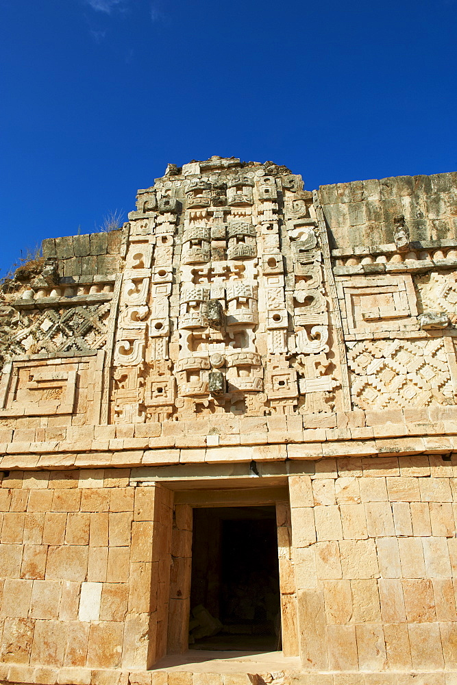 Cuadrangulo de las Monjas (Nuns' Quadrangle) at Mayan archaeological site, Uxmal, UNESCO World Heritage Site, Yucatan State, Mexico, North America