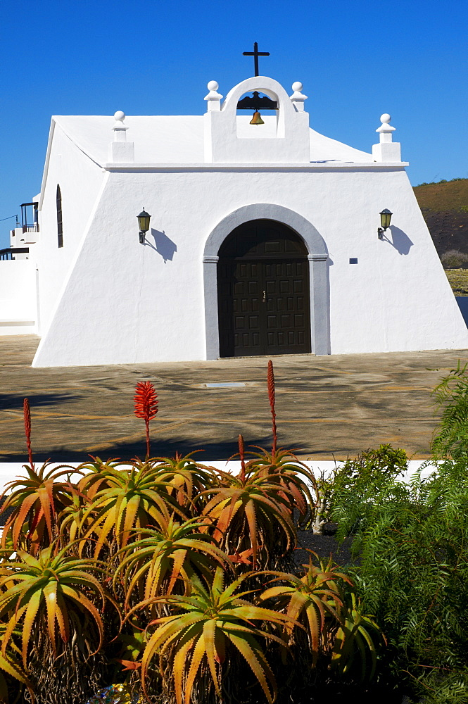 Church of Masdache village, Lanzarote, Canary Islands, Spain, Europe - 841-60