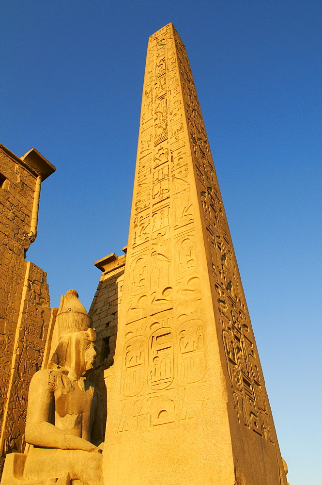 Obelisk of Ramesses II, Temple of Luxor, Thebes, UNESCO World Heritage Site, Egypt, North Africa, Africa