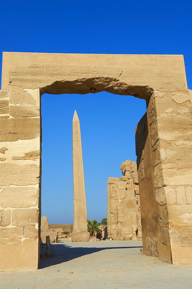 Obelisk of Hatshepsut, Temple of Amun, Karnak, Thebes, UNESCO World Heritage Site, Egypt, North Africa, Africa