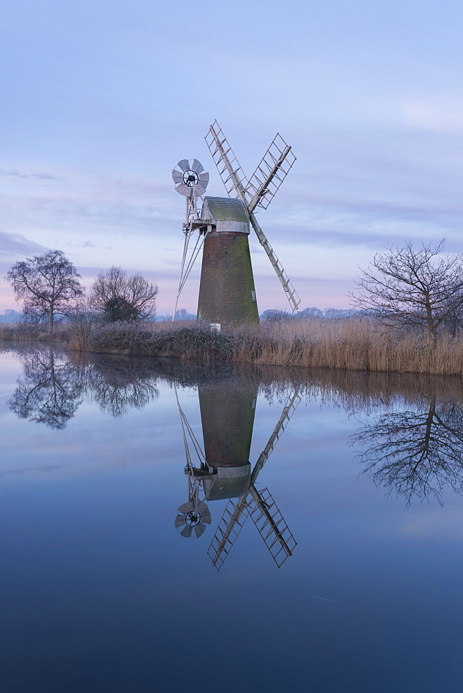 A view of Turf Fen Mill, Norfolk Broads, Norfolk, England, United Kingdom, Europe