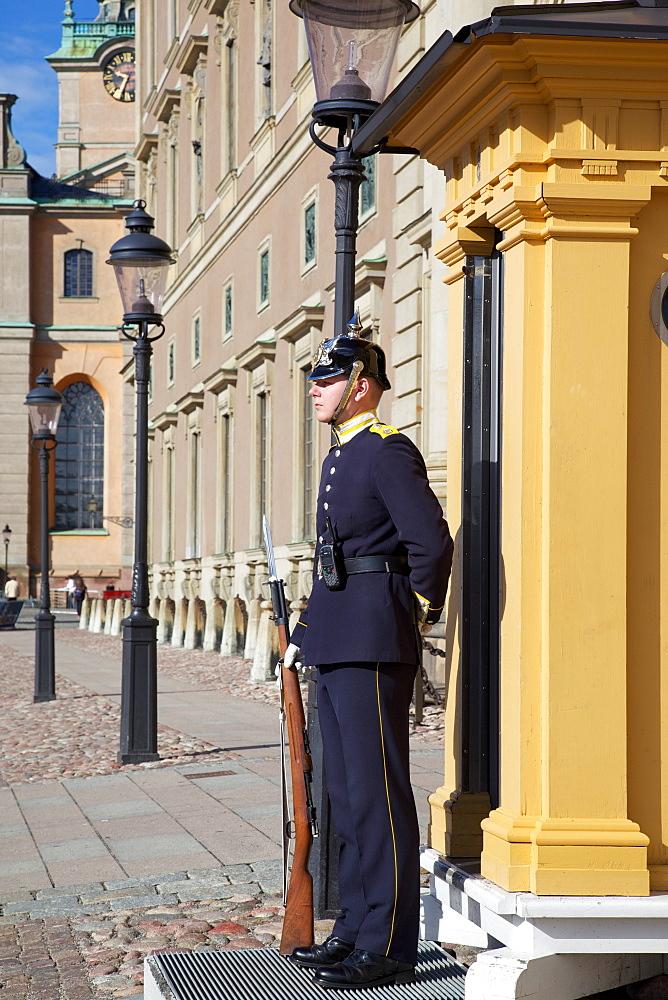 Royal Palace guard, Gamla Stan, Stockholm, Sweden, Scandinavia, Europe