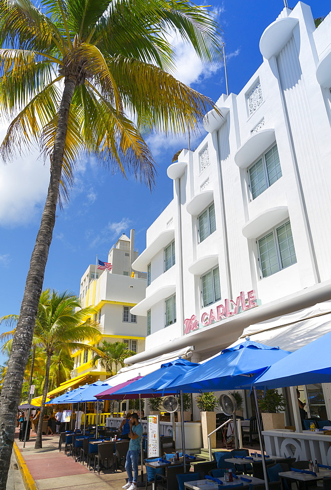 Art Deco architecture on Ocean Drive, Miami Beach, Miami, Florida, United States of America, North America