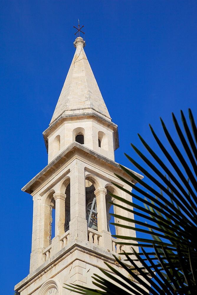 Church bell tower, Old Town, Budva, Montenegro, Europe