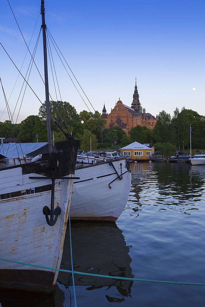 Boats and Nordic Museum, Djurgårdsvägen, Stockholm, Sweden, Scandinavia, Europe