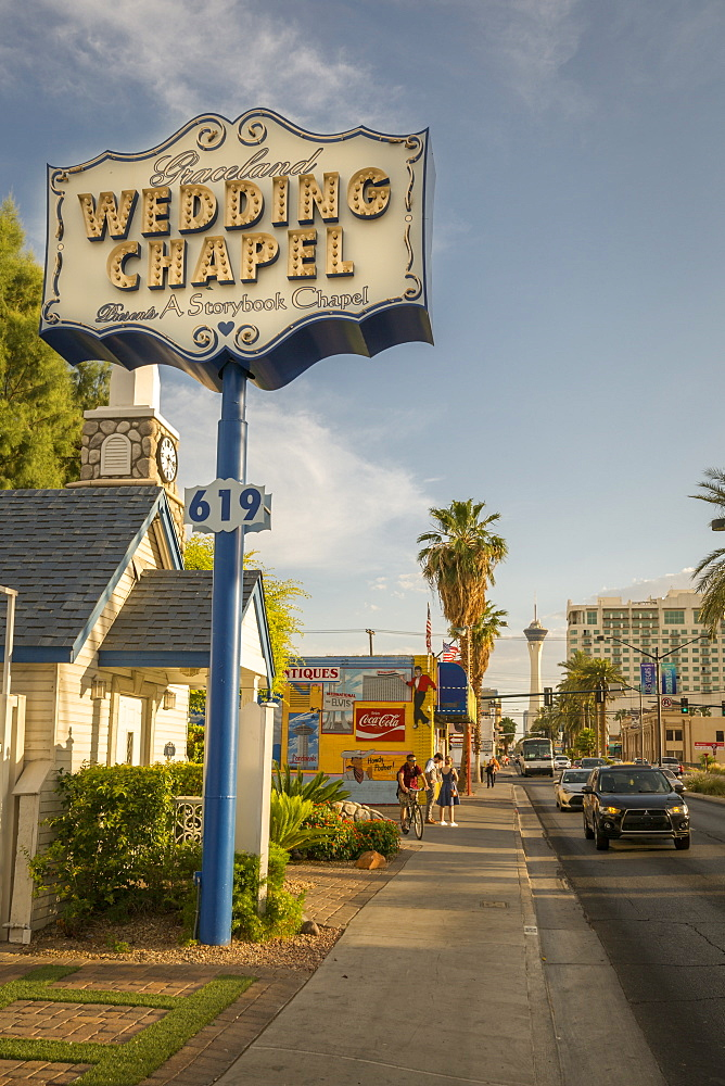 Graceland Wedding Chapel on Las Vegas Boulevard, The Strip, Las Vegas, Nevada, United States of America, North America