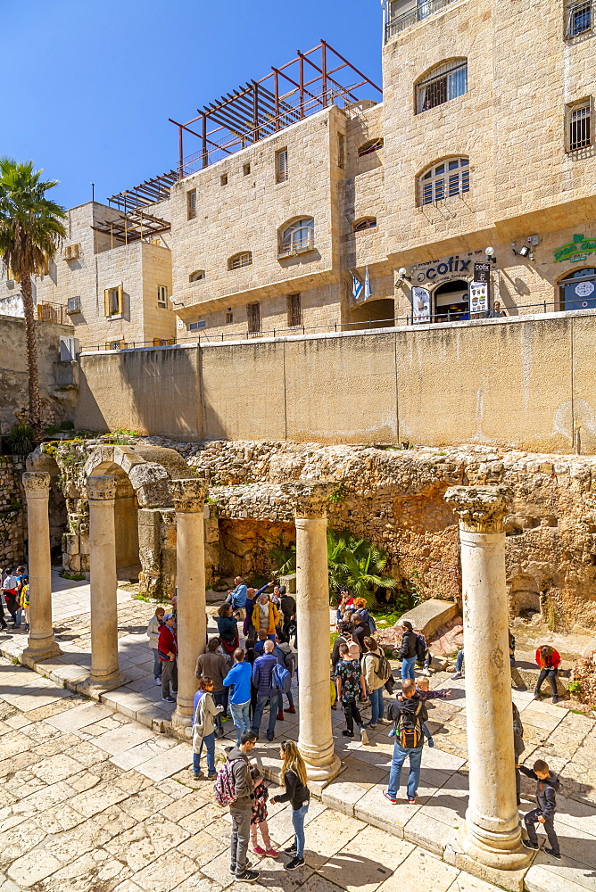Roman excavations in Old City, Old City, UNESCO World Heritage Site, Jerusalem, Israel, Middle East - 844-19277