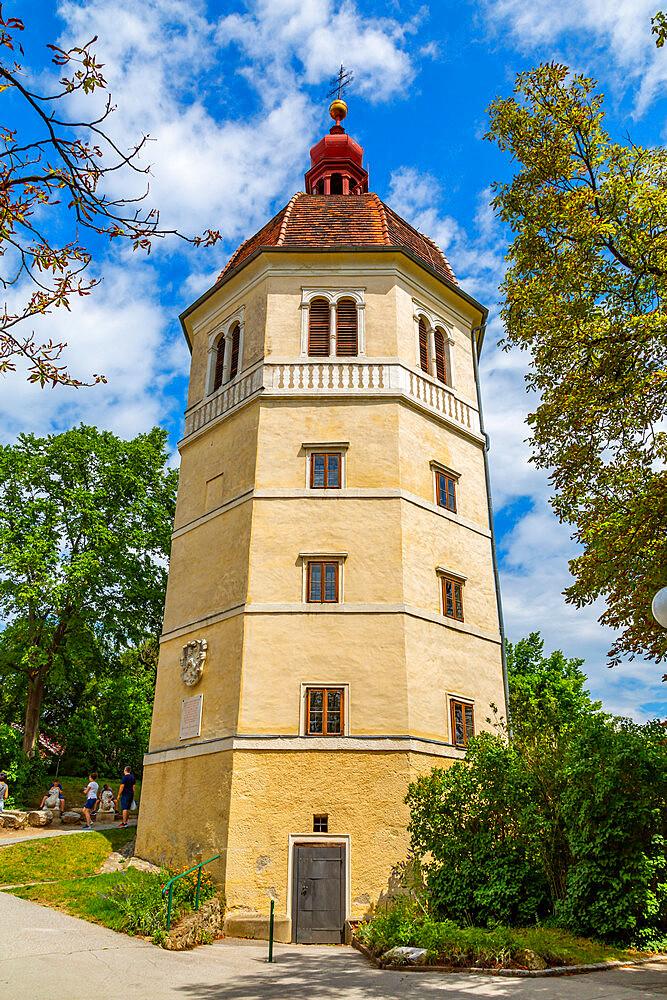 View of Glockenturm near the Castle, Graz, Styria, Austria. Europe