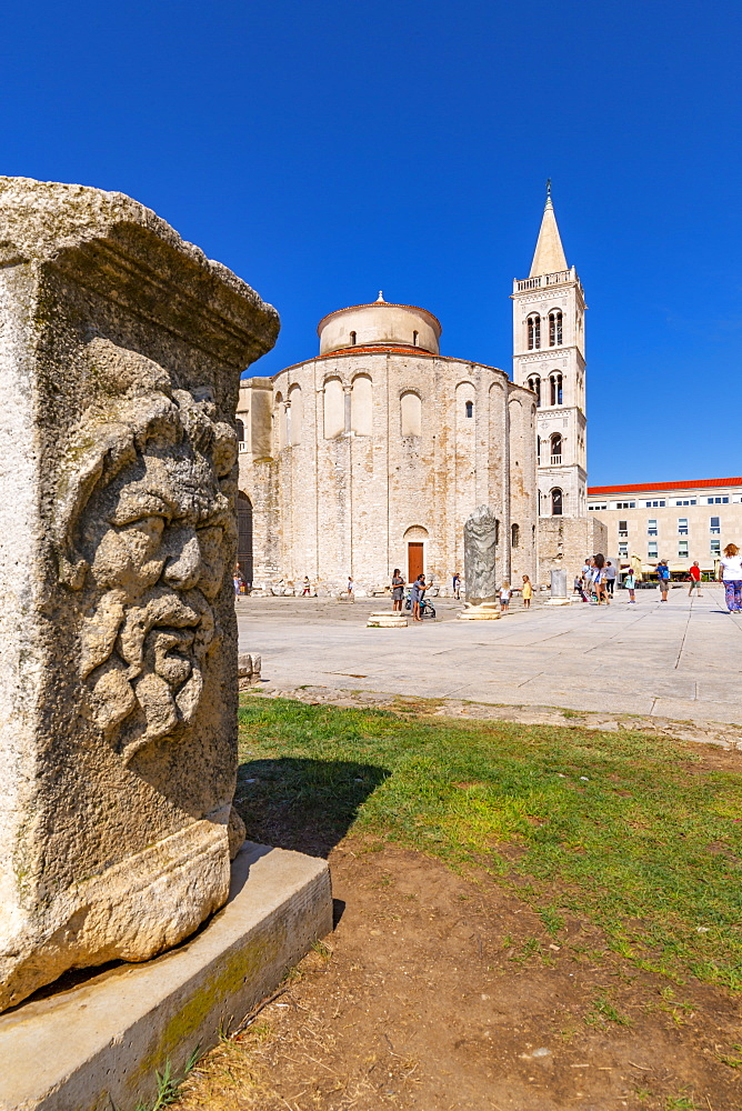 View of Cathedral of St. Anastasia, Zadar, Zadar county, Dalmatia region, Croatia, Europe