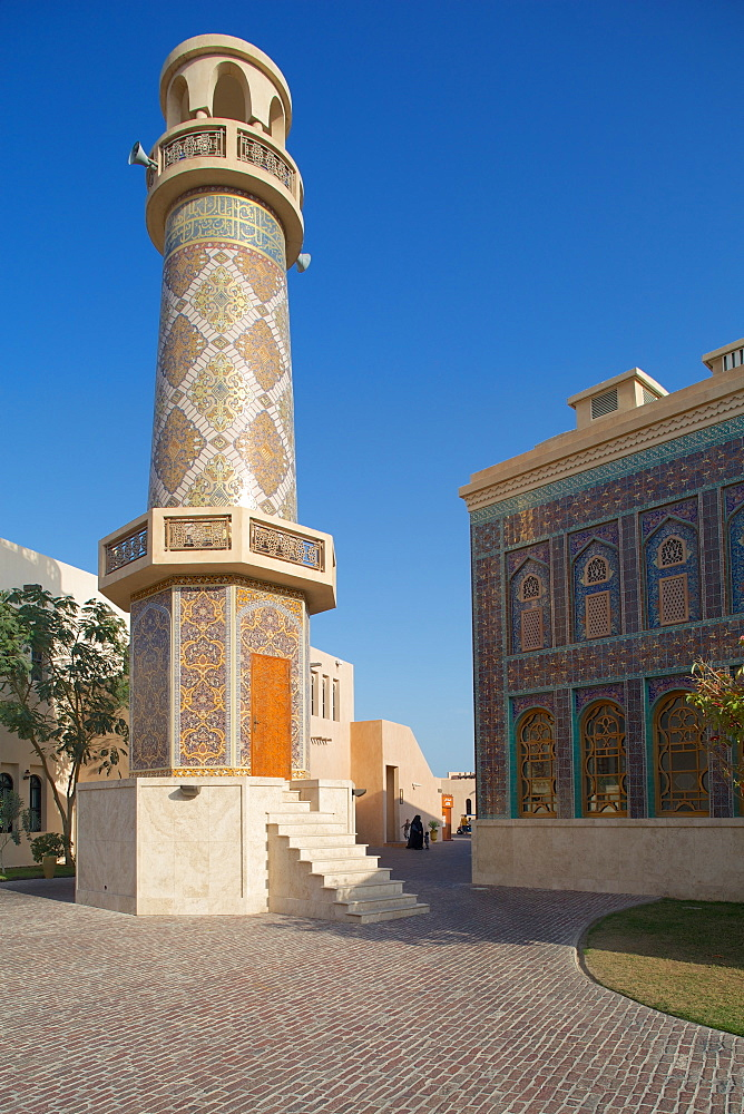 Minaret and Mosque, Katara Cultural Village, Doha, Qatar, Middle East