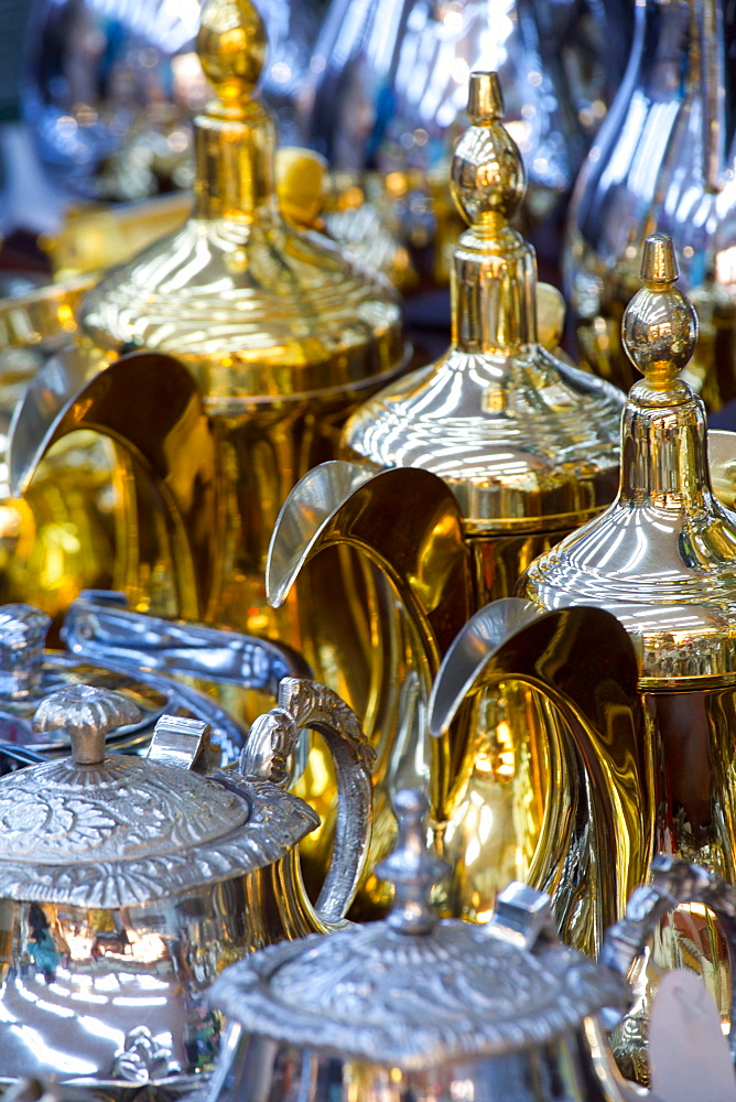 Silverware, Waqif Souq, Doha, Qatar, Middle East