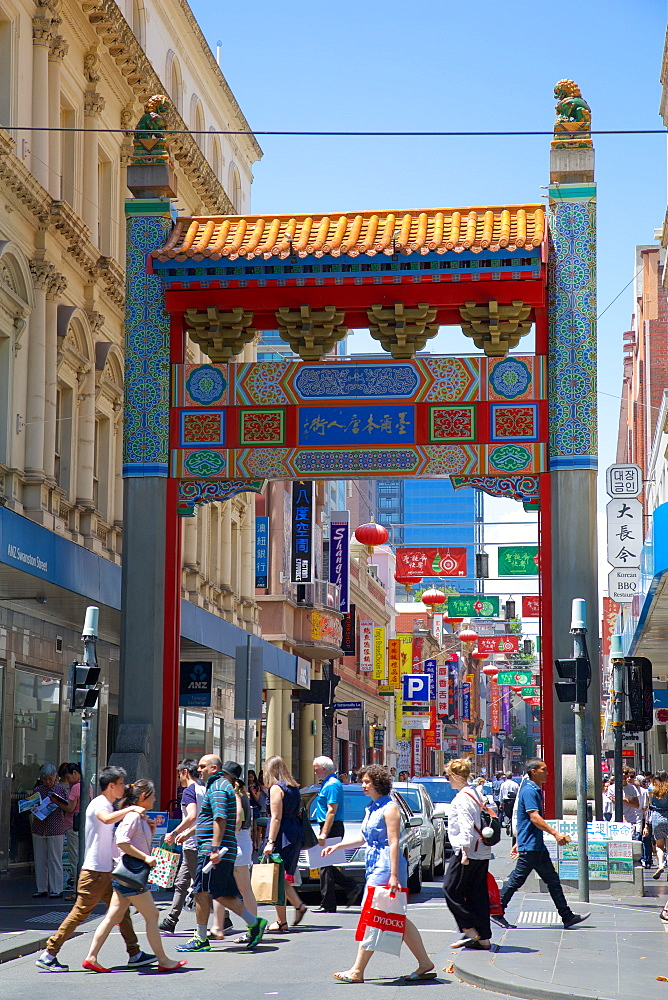 Entrance to Chinatown, Melbourne, Victoria, Australia, Pacific